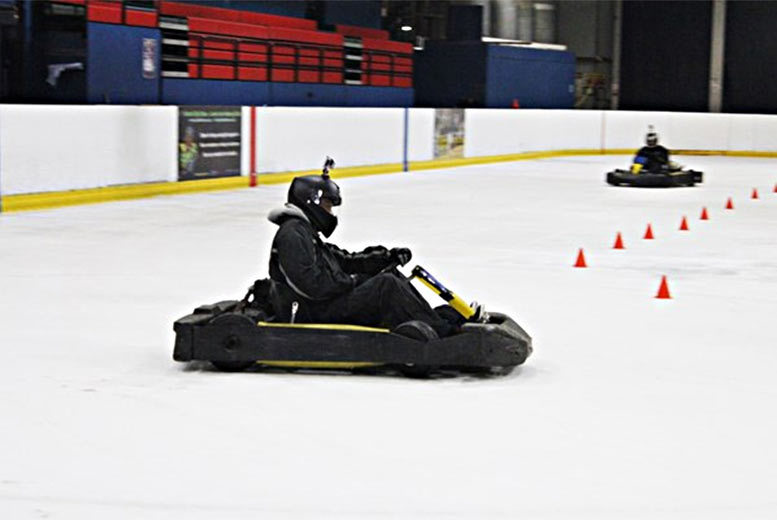 £39 for a karting on ice experience for two at one of nine locations from Buyagift