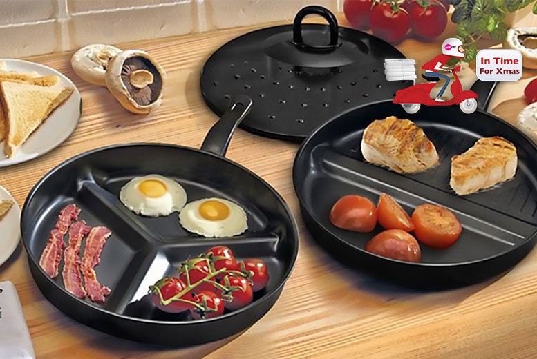 £9.99 instead of £36 (from Shop Directly) for a set of two divider frying pans - save 72%