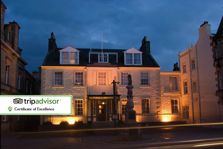 £59 for an overnight stay for two including a Prosecco cream tea and a full Scottish breakfast, £109 for two nights at The Tontine Hotel, Peebles - save up to 57%