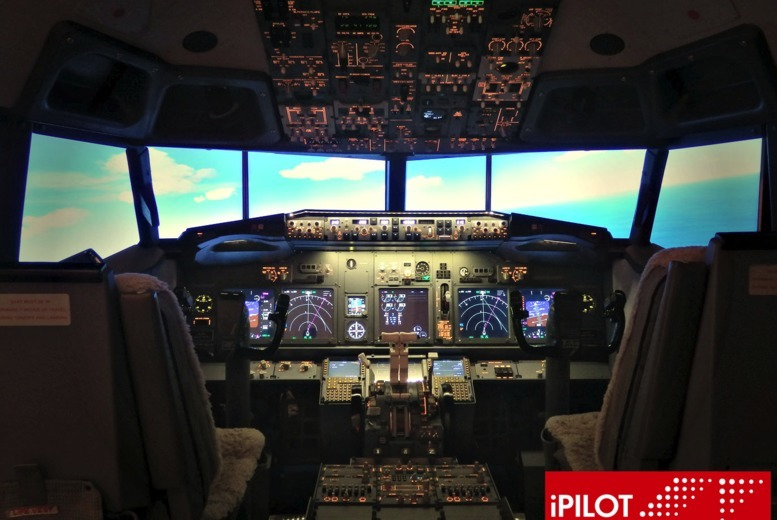 £35 for a 20-minute Boeing 737 flight simulation experience, £45 for 30 minutes or a 60-minute shared flight, £75 for 60 minutes at iPilot, Hammersmith - save up to 53%