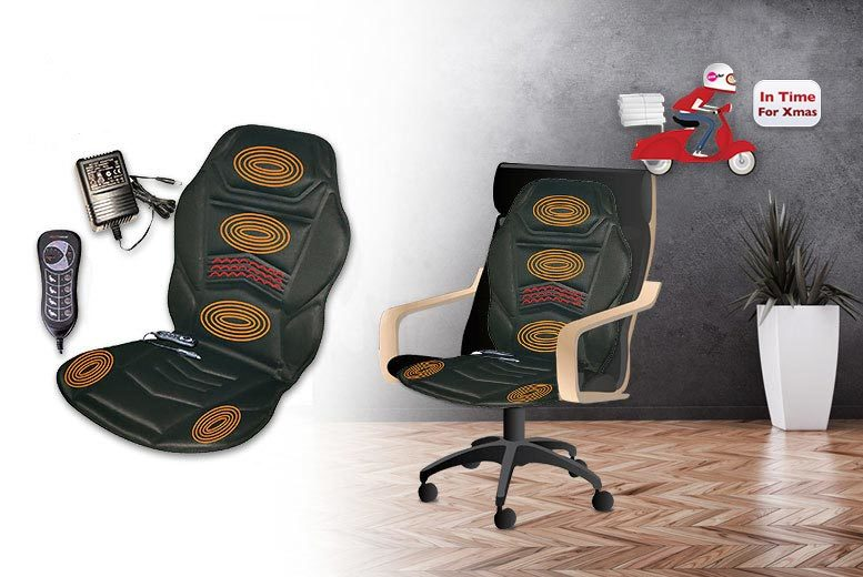 £19.99 instead of £66.95 (from Direct2Public) for a heated massage cushion and remote control - save a super-soothing 70%