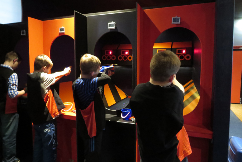 £3 instead of £7 for a NERF Zone ticket at Gulliver's - choose from 3 locations and save 57%