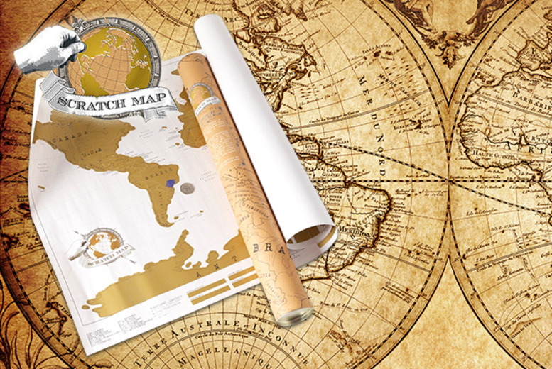 £7.99 instead of £15.95 (from Unusual Giftz) for a customisable world scratch map - mark your adventures and save 50%
