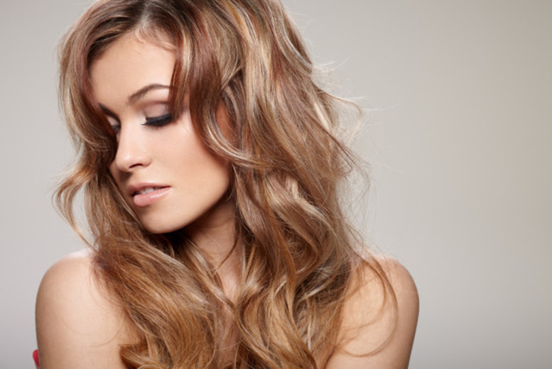 £24 for T-bar highlights or a full head tint plus cut, conditioning treatment and blow dry with a senior stylist at Indulging Moments, Glasgow - save up to 63%