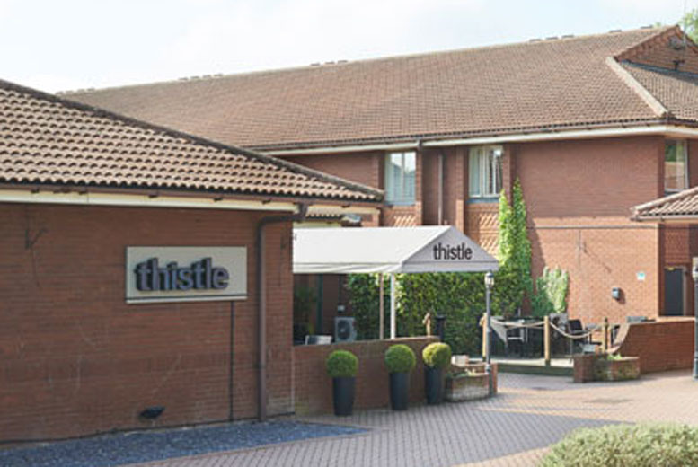 £89 for an overnight stay for 2 (at Thistle East Midlands Airport Hotel) inc. breakfast