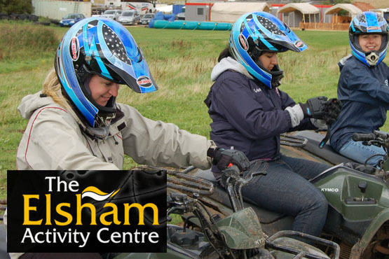 £24 for a quad biking and air pistol shooting experience for one, or £45 for two people, from Elsham Activity Centre – save up to 63%
