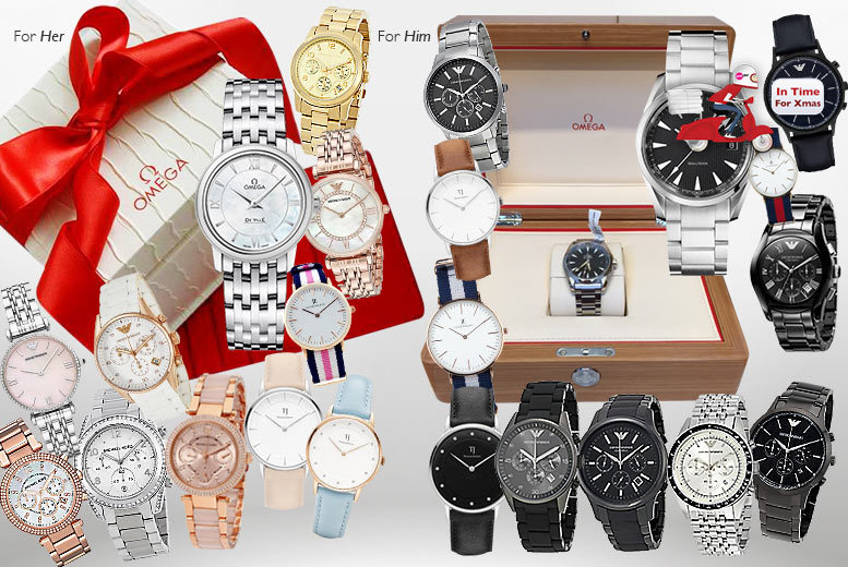 £20 for a Luxury Mystery Watch Deal for him or her - get Jacob Ekland, Thomas Jensen or luxury brands like Omega, Micheal Kors and Emporio Armani!