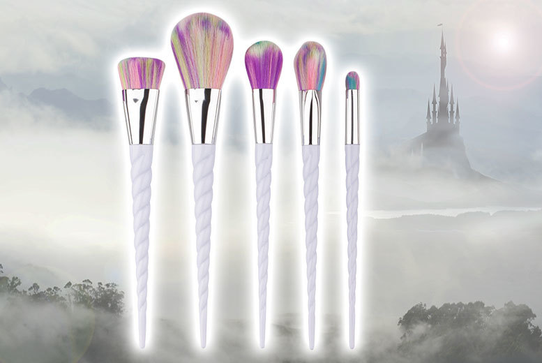 £14 instead of £69.99 (from Glam Bazaar) for a set of five luxury unicorn makeup brushes - save 80%