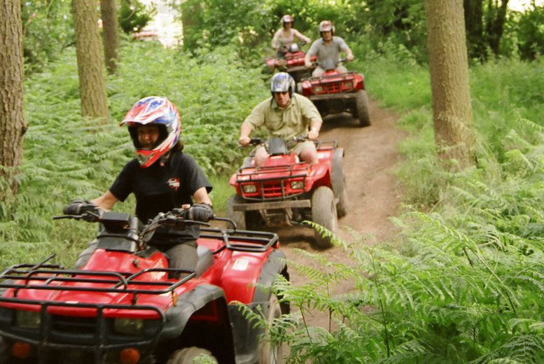 £34 instead of £100 for a two-hour quad bike trekking and laser clay shooting experience for one person at Heart of England, Coventry - save 66%