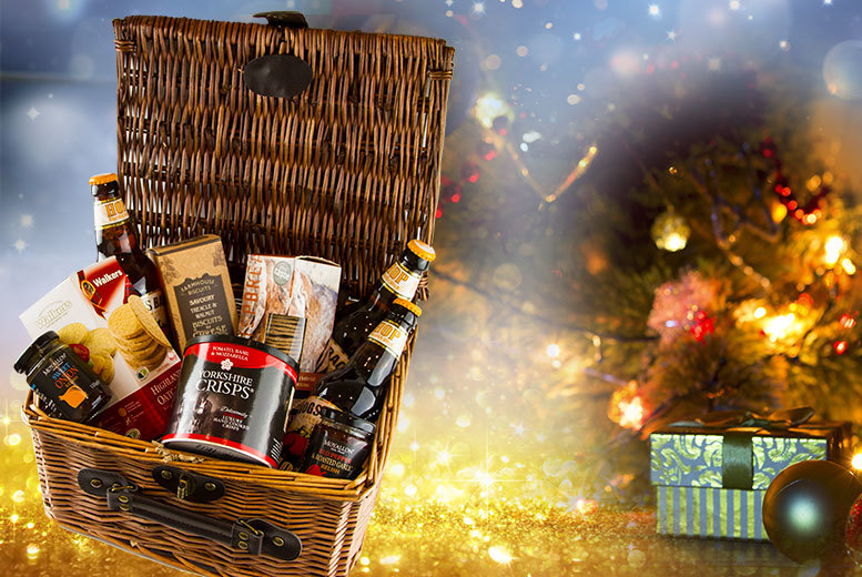 £24.50 instead of £49.99 for a Christmas 'Ploughmans' food and drink hamper from First4Hampers - save 51%