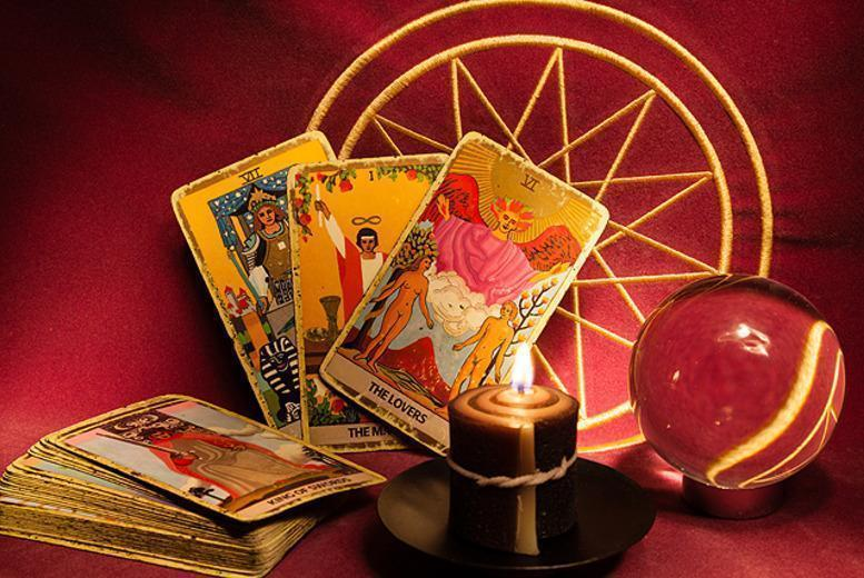 £9 instead of up to £25 for a 30-minute tarot reading with a crystal ball, palms, photos, objects or jewellery at Psychic Tarot By Angela - save up to 64%