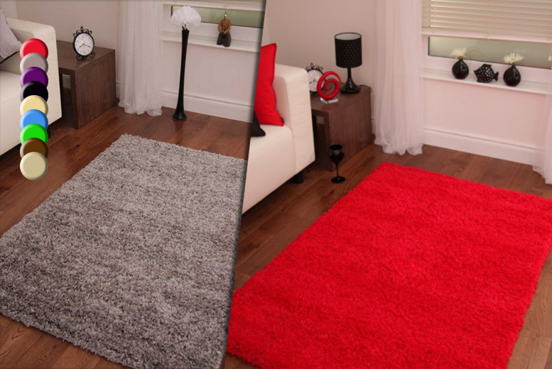 £10 for a 60cm x 110cm shaggy rug, £20 for 80cm x 150cm, £24 for 60cm x 220cm or £30 for 120cm x 160cm - save up to 67%