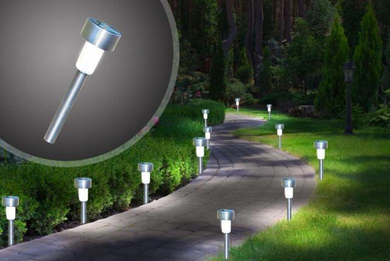 £19 instead of £59.40 for a set of 12 stainless steel solar garden lights, or £28 for 24 lights from Wowcher Direct - save up to 68%
