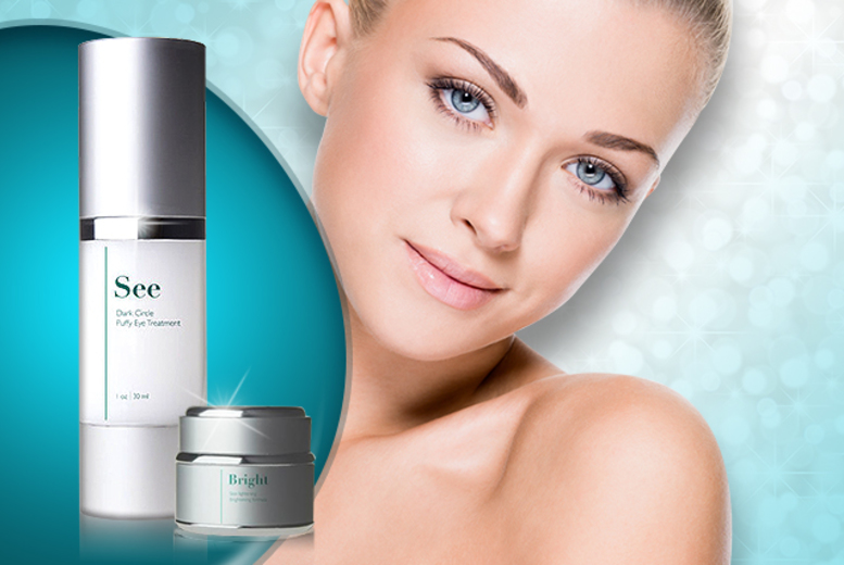 "£14.99 instead of £100 for 30ml Ethos ""See"" eye treatment plus a 30ml jar of Ethos ""Bright"" 'skin brightening formula' - save 85%"