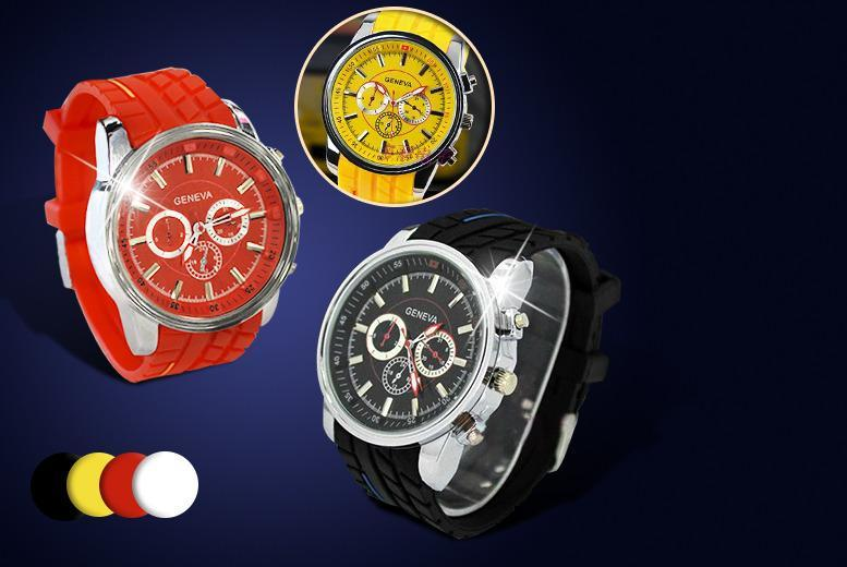 £9 instead of £49.99 (from Marcus Emporium) for a silicone Geneva men's sports watch - choose from 4 colours and save 82%