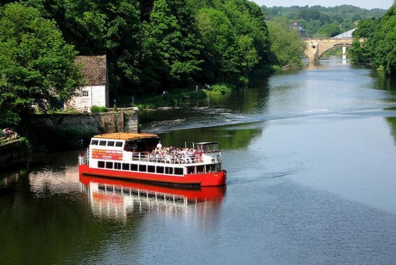 £8 instead of up to £16 for a 1-hour Durham sightseeing cruise for 2 people aboard the Prince Bishop River Cruiser - save up to 50%