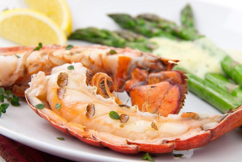 £29 for a lobster platter to share between 2 including a glass of wine each at Finest of Fish