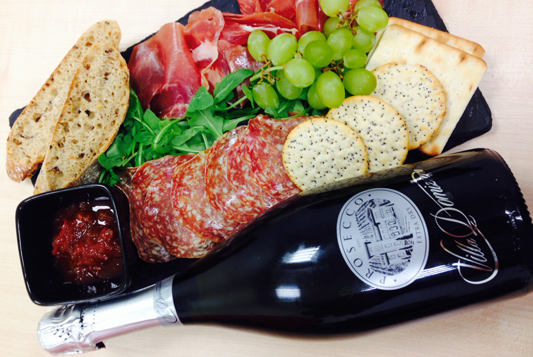 £14.99 instead of up to £29.45 for a bottle of Prosecco and charcuterie platter for 2 at Artigiano, Oxford Street – save up to 49%