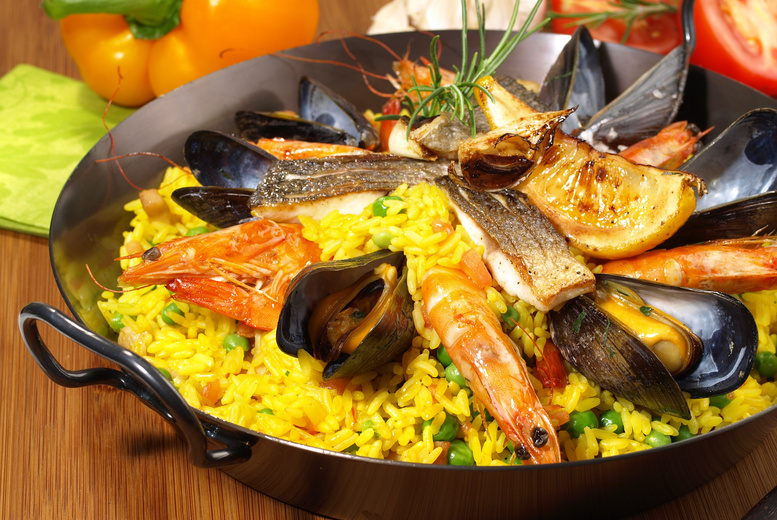 £16 instead of up to £33.80 for a paella meal for 2 inc. glass of sangria each at 3 Amigos, Lichfield - save up to 53%