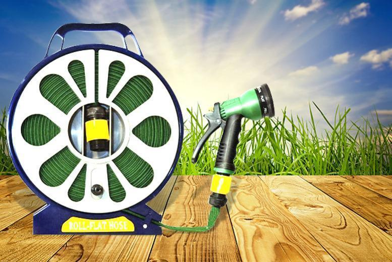 £9.99 instead of £36 (from Zoozio) for a 50ft garden flat hose with spray nozzle - save a super-soaking 72%