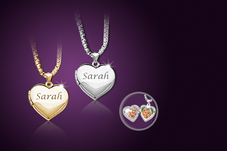 £9 instead of £60 (from Cian Jewels) for a personalised heart locket necklace - save 85%