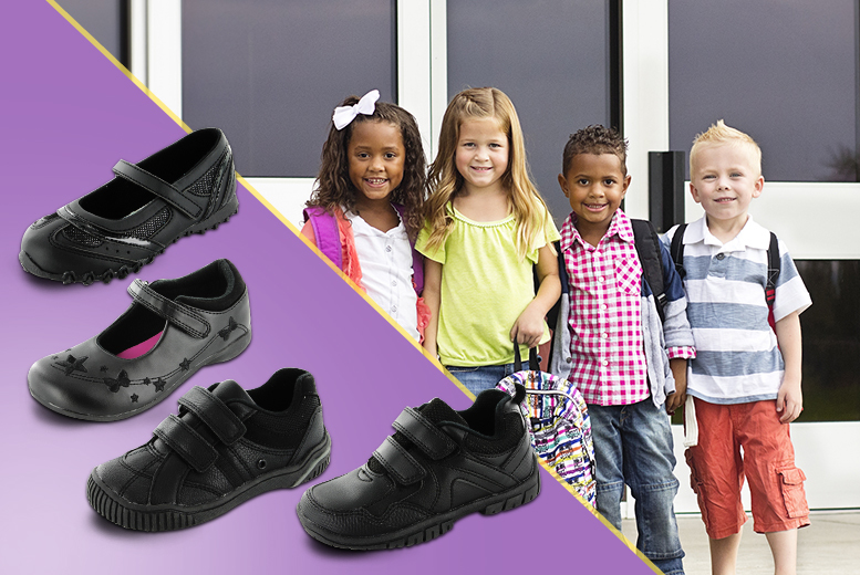 £9.99 instead of £17.95 (from Kids Shoe Factory) for a pair of kids' school shoes in designs for boys and girls - save 44%
