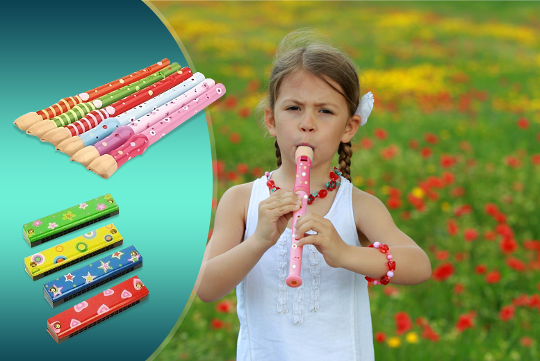 £5.99 instead of £12.99 (from London Exchainstore) for a children's wooden recorder or harmonica, £9.99 for both - save up to 54%