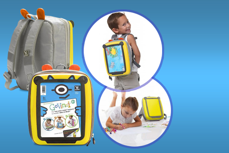 £9.95 instead of £19.95 (from Funtica) for a 3-in-1 kids' backpack with art display and drawing surface - choose from 5 colours and save 50%