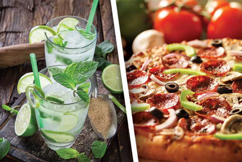 £10.50 instead of up to £26 for two cocktails and two pizzas at CandyStripe Bar, Leicester - save up to 60%