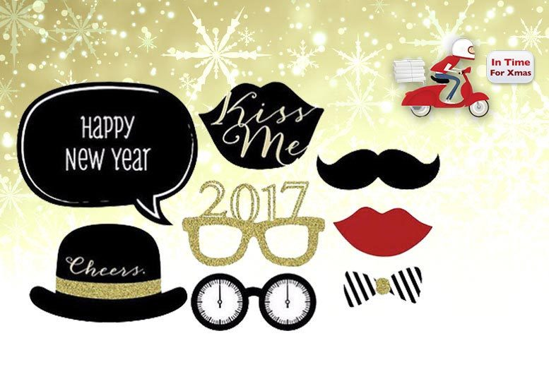 8pc new years eve selfie props set