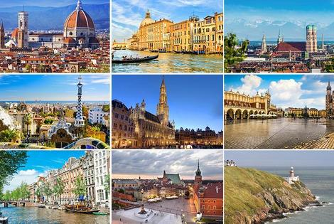 From £89pp (from Crystal Travel) for a two-night European city break Christmas gift - choose from 10 destinations and save up to 45%