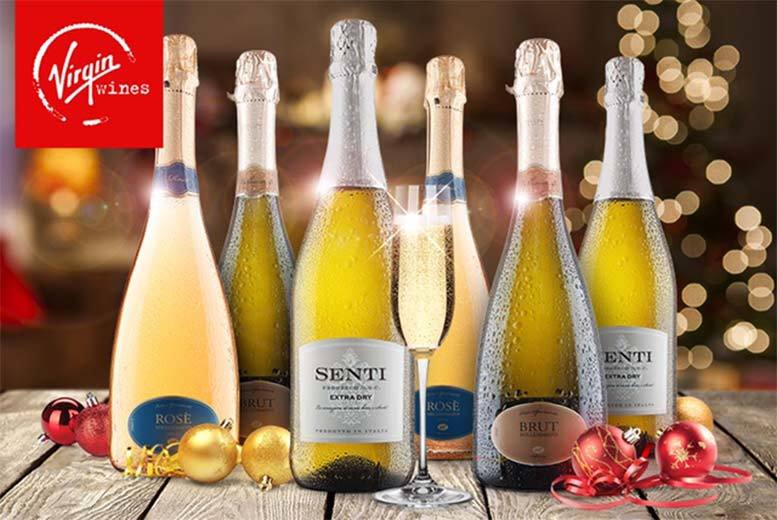 £32 instead of £63.94 (from Virgin Wines) for a six-bottle selection of festive fizz - make your Christmas sparkle and save 50%