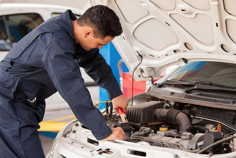 £19 for a car air con service including recharging of coolant gas and a 54-point service at Triumph Road Tyres.
