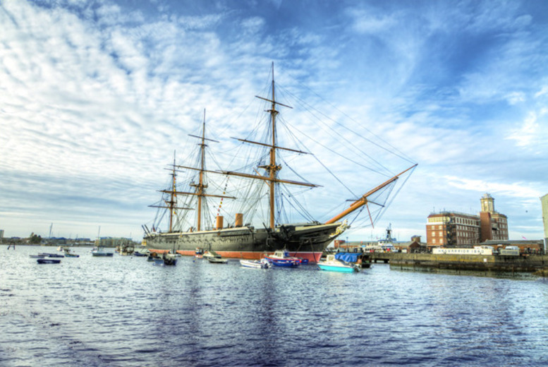 £29 for a 1-year pass for 2 people to Portsmouth's Historic Dockyard including a guidebook from Buy a Gift!