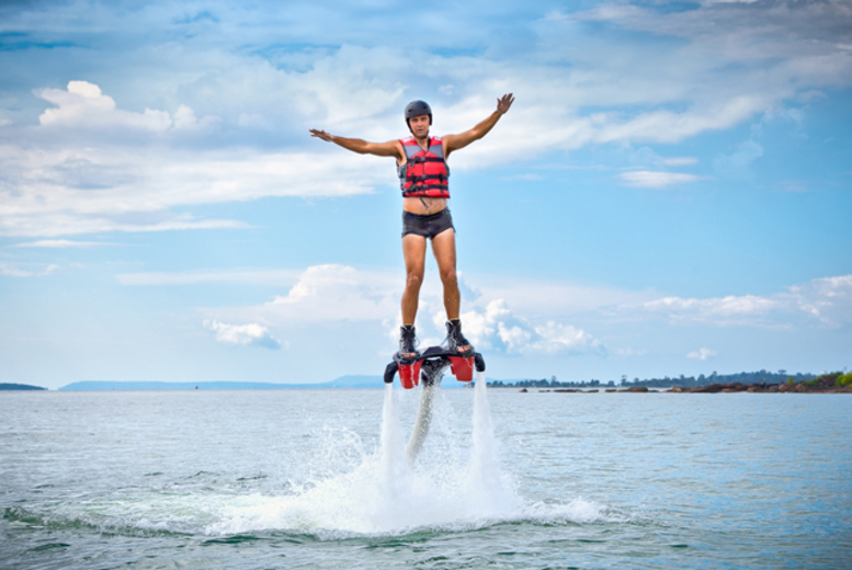 £59 instead of £75 for a flyboarding experience with WetJets, Littlehampton - save a sky-high 21%