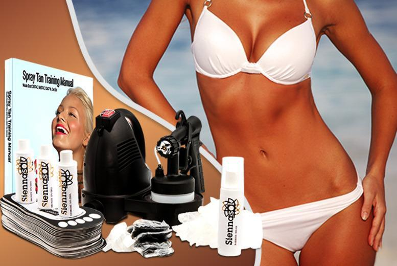 £99 (from Spray Tan Pro) for a home spray tanning kit inc. 24-piece accessory set, or £139 with a pop-up spray tan tent - save up to 50%