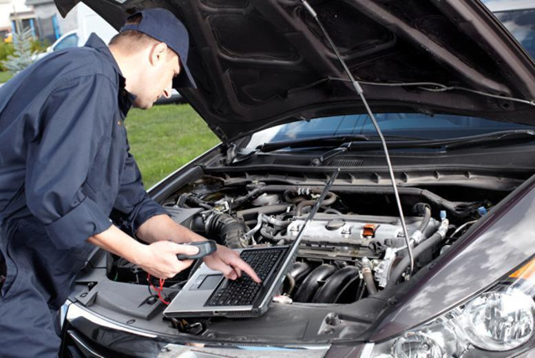 £49 for a full car service including oil and filter change and diagnostic checks, or £63 with an MOT at Cromptons Automotives, Bolton - save up to 73%