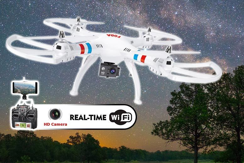 Large HD Camera Quadcoptor Drone (Choice of 2 Colors)