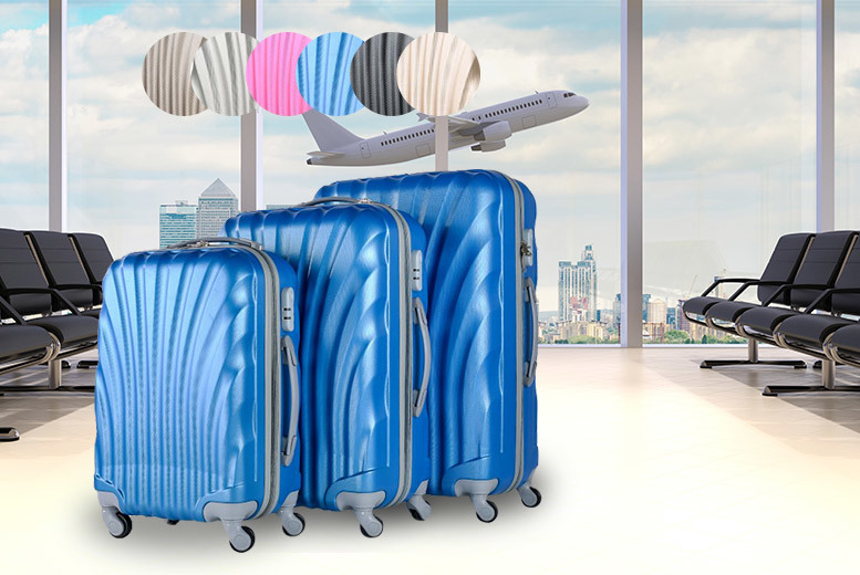 £65 instead of £391 (from Fakurma) for a three-piece wheeled luggage set – choose from six colours and save 83%