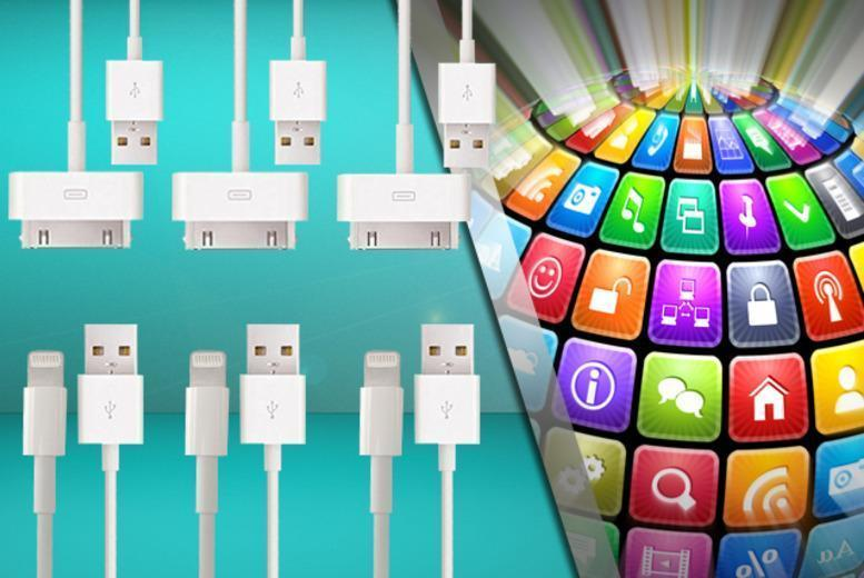 £4.99 instead of £30 (from Planet of Accessories) for two 1m charge and sync cables for iPhone 3, 4 or 5, £6.99 for 3 cables - save up to 83%