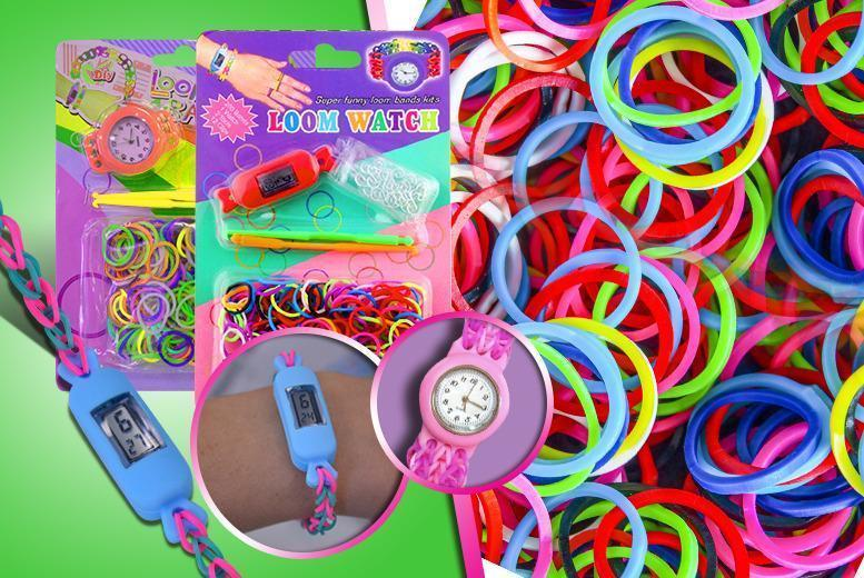 £5 instead of £14.99 (from Emyub) for a colourful loom band watch making kit or £8 for two kits - save up to 67%