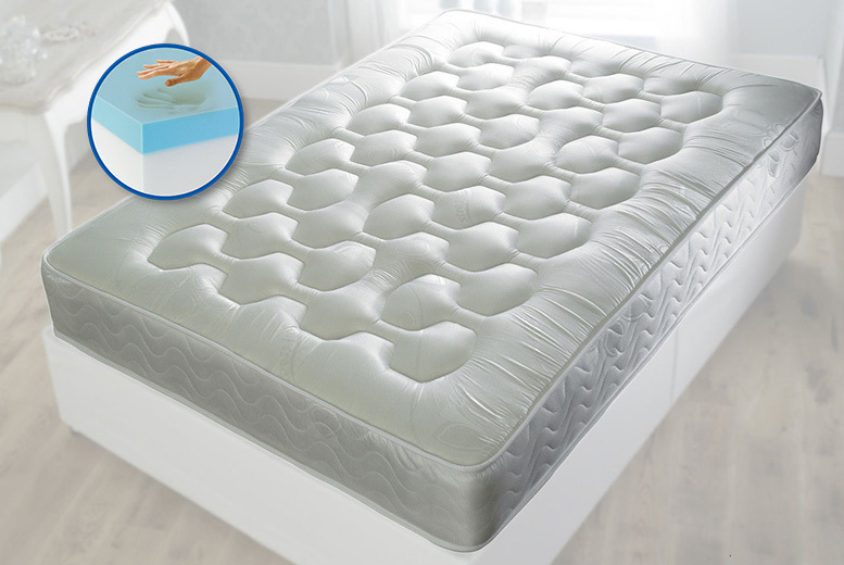 Quilted Cool Blue Hybrid Memory Sprung Mattress