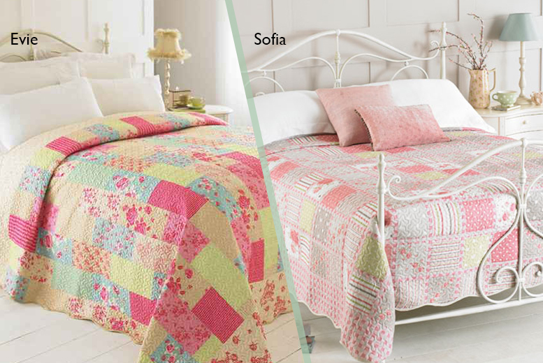 £22 instead of £45.01 for a luxury patchwork quilt from Wowcher Direct - choose from 4 designs and save 51%