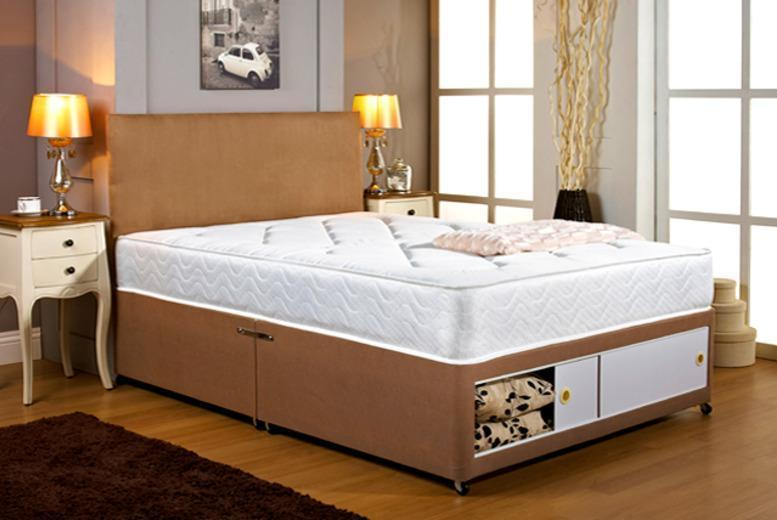 Wowcher Deal From For A Double Divan Bed With Storage And Headboard Options Or From