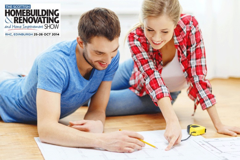 £8 instead of £16 for two tickets to The Scottish Homebuilding & Renovating and Home Improvement Show, Edinburgh - save 50%
