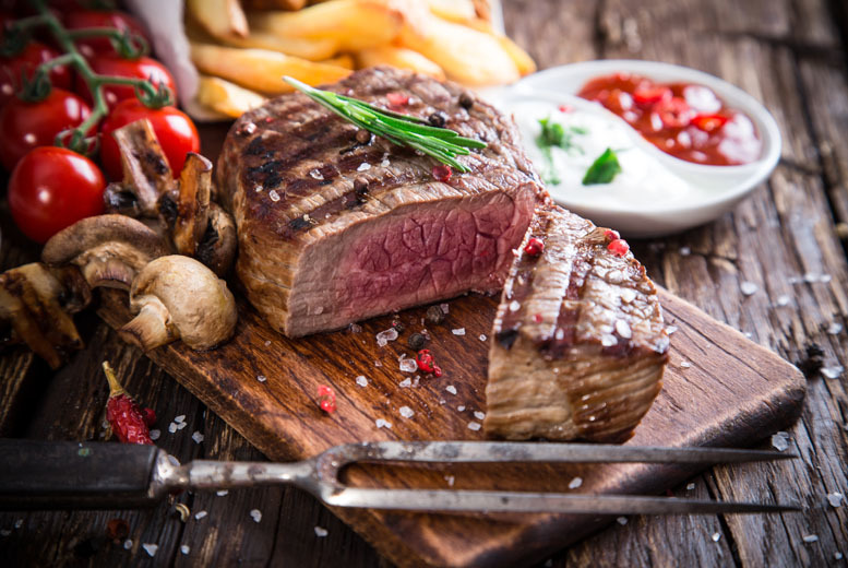 £25 instead of £43.20 for a steak meal for 2 inc. a Prosecco cocktail each at Sackville Lounge, Manchester - save 42%