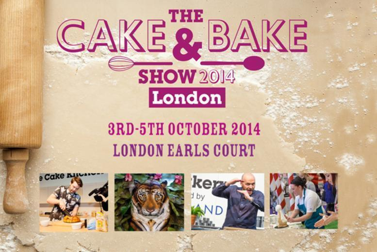 £14.50 instead of up to £29 for 2 tickets to The Cake & Bake Show at Earls Court One - save up to 50%