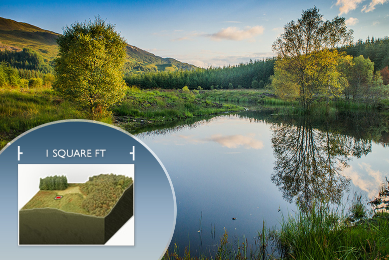 £14.99 (from Highland Titles) for one square foot of land in Scotland, or £24.99 for ten square feet - save up to 50% + DELIVERY INCLUDED!