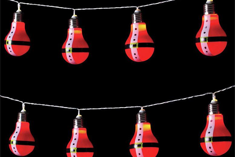 10 bulb string christmas lights