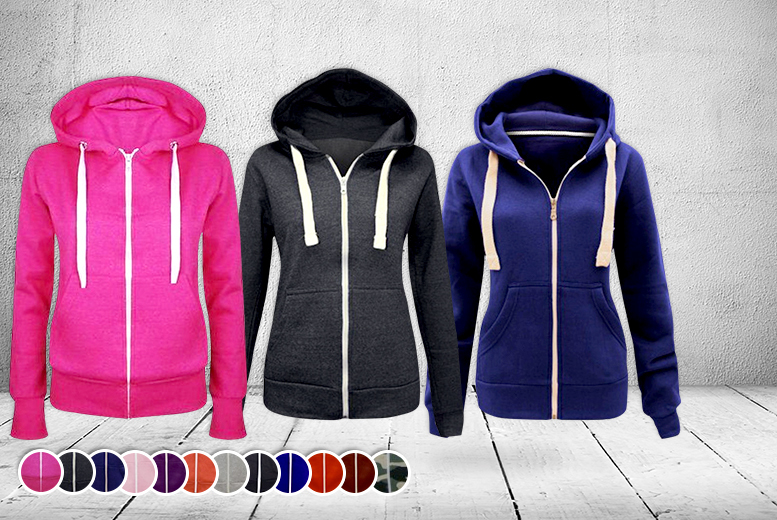 £7.99 instead of £24.99 (from Top Notch Fashion) for a women's zip hoodie, or £15.98 for 2 - save up to 68%